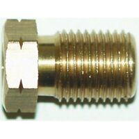 Brake Pipe Brass Union Fitting Male M10 x 1mm 3/16