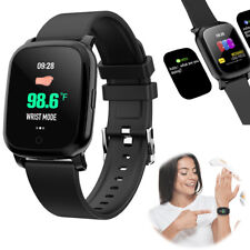 Smart Watch Measure Body Temperature Touch Screen for iPhone Samsung Men Women
