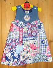Denim & Patchwork style fabric  Age 2 yrs  'Simply Awesome' Handmade Dress