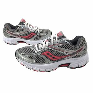 Saucony Grid Cohesion Women's Running Shoes Silver Pink Coral Size 6 S15218-15