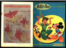 PETER PAN & MICKEY & TIC ET TAC DONALD DINGO ¤ EO 1957 EDICOQ DISNEY