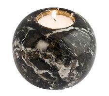 Black granite marble sphere tea light candle holder - home & garden fab bbq gift