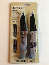 Old Timer 3D Combo Pack 2 Knife Set