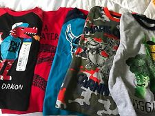59)  Lot of 5 pieces 3T Cute Toddler Boy Clothing T-Shirts & Long Sleeve Disney