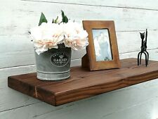 Chunky Solid Wood Rustic Floating Mantel extra deep Shelf 12x2 Wall Brackets