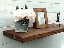 Chunky Solid Wood Rustic Floating Mantel extra deep Shelf 12x2 Wall Brackets