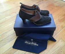 GOLDEN FLEECE BROOKS BROTHERS WOMAN'S OXFORD SHOES HEELS BROWN LEATHER SIZE 9.5