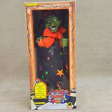 """Halloween Holiday Creations Animated Wicked Witch Hag 15"""" Figure w Sound Lights"""