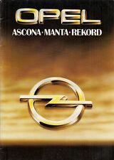 Opel Ascona B Manta B Rekord E 1979-80 UK Market Sales Brochure