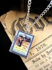 Silver Alice Looking Glass Book Photo LOCKET Necklace Pendant Steampunk  Fairy