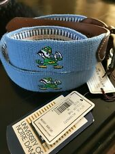 Nwt~University Of Notre Dame Belt by Peter Millar~Nd Leprechauns~ Size Men'S 36