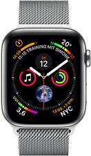 Apple Watch Series 4 GPS Cellular 44mm silber Edelstahl Milanaise Armband - NEU