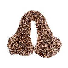 Mondän Feminin dünn lang Halstücher bequem Leoparden Muster Schal aus Chiffon