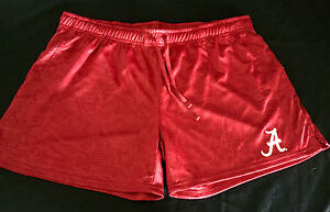University of Alabama Ladies Athletic Shorts with White Script A
