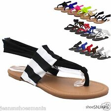 New Women Summer Beach Flip Flop Lace Up Yoga Shoes Thong Flat Slingback Sandals