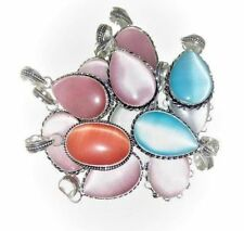 Christmas Offer !! 20 PCs. Calcite 925 Sterling Silver Plated Necklace Pendant