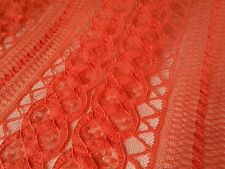 New orange stretch Corded lace fabric designer dress Craft Sew Lace Cloth Orange