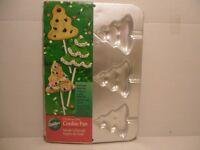 WILTON Christmas Tree Cookie Treat Baking Cake Pan Lollipop Candy Mold