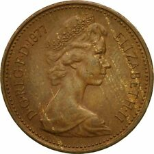 [#545282] Coin, Great Britain, Elizabeth II, New Penny, 1977, VF(20-25), Bronze