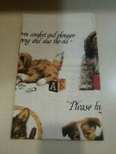 New listing A Dog Gives Comfort Pleasure To Young And Old Vintage Kay Dee Linen Towel