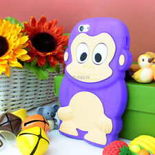 For Apple iPhone 5C Colorful 3D Color Cute Monkey Silicone Gel Skin Case Cover