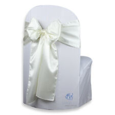 """20 pcs Satin Chair Cover Bow Sash 108""""x8"""" - Ivory - Wedding Party Banquet sy"""