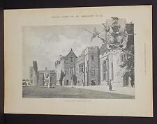 Illustrated London News Single-Page A3#23 Jan. 1888 Penshurst Place