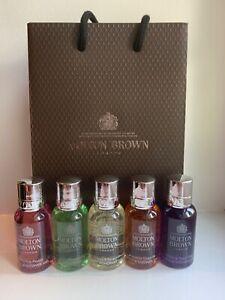 Molton Brown Ladies Body Wash / Shower Gel / Gift Set 5 x 30ml Bottles - NEW