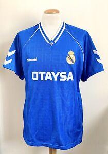 VINTAGE REAL MADRID 1989 HUMMEL SHIRT XL SPAIN CAMISETA