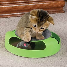 New Cat Kitten Catch The Mouse Plush Moving Toy Scratching Claw Care Mat Play