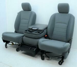 DODGE RAM 1500 2500 3500 FRONT MANUAL CLOTH SEATS CENTER CONSOLE JUMP SEAT