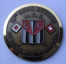 Challenge Coin - 32nd Signal Battalion - Germany Darmstadt Frankfurt Air Base