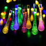 30 LED Solar Garden String Lights Outdoor Garden Party Drop Fairy Christmas