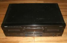 Yamaha Dual Cassette Deck Kx-W321 Natural Sound Auto Reverse Tape Player Tested