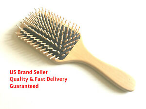 Quality Wooden Pin Bristle Hair Brush Comb Cushion Paddle Massage Large Durable