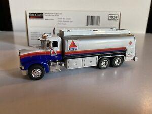 SpecCast 1/64 scale Peterbilt fuel tanker truck CITGO Oil, with box