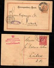 B055# 2 alte Ganzsachen aus Österreich aus 1895 - 1919