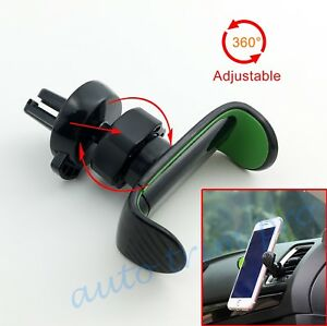 Car Cell Phone Holder Cradle Stand 360 Rotating Black Style Air Vent Mount Part