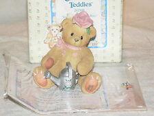 Cherished Teddies Rose Bear Figurine 1996 202886 EXC Clean Papers Retired