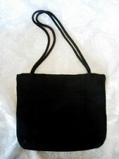 Vintage The Sak Black Crocheted Shoulder Bag / Purse / Handbag - New Vintage
