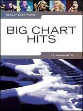 Easy Piano Big graphique Pop Hits Partitions livre ADELE Ed Sheeran Coldplay Gaga