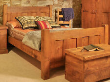 SOLID RUSTIC SAWN PLANK KING 5FT BED FRAME | HANDMADE