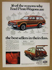 1978 Ford Pinto Squire Wagon red & woodgrain car photo vintage print Ad