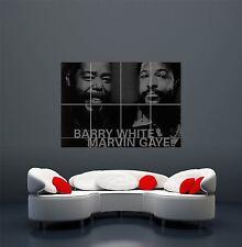 BARRY WHITE Marvin Gaye Soul Leggende Poster Artistico Gigante stampa wa436