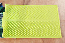 Green Soft Silicone Dishes Drying Draining Mat for Kitchen Counter 15.3x9.8in OB