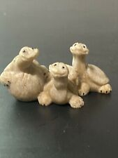 Quarry Critters Tres Amigos Stone Turtles Figurine by Second Nature Creations