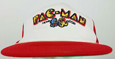 Vintage 1981 Midway Pac-Man Ghost Red White Arcade Video Game Mesh Trucker Hat