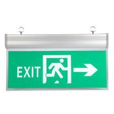 Acrylic 12 LEDs Emergency Exit Sign Lamp Light Evacuation Indicator Light