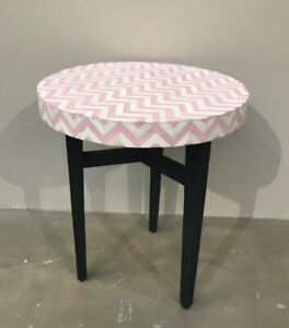 NEW Bone Inlay side table- pink