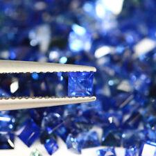 4.20 CT GENUINE MINED NR BLUE SAPPHIRE SQUARE PRINCESS CUT 2.0-4.5 MM 21 PCS